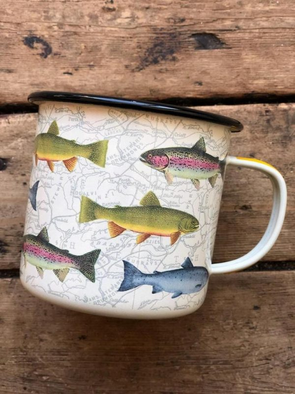 Enamel Fish Mug