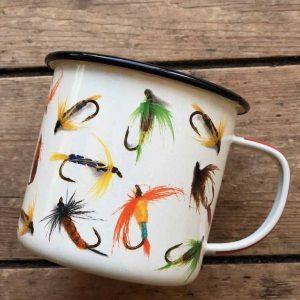 Enamel Fish Fly Mug